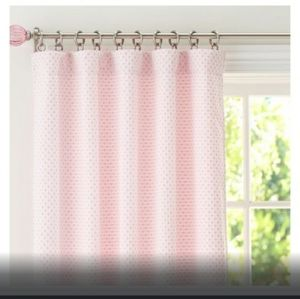 Pottery Barn Kids Pink Dot Chenille Curtain Panel